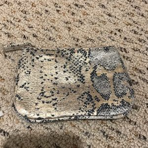 Mini Snake Skin Patterned Pouch